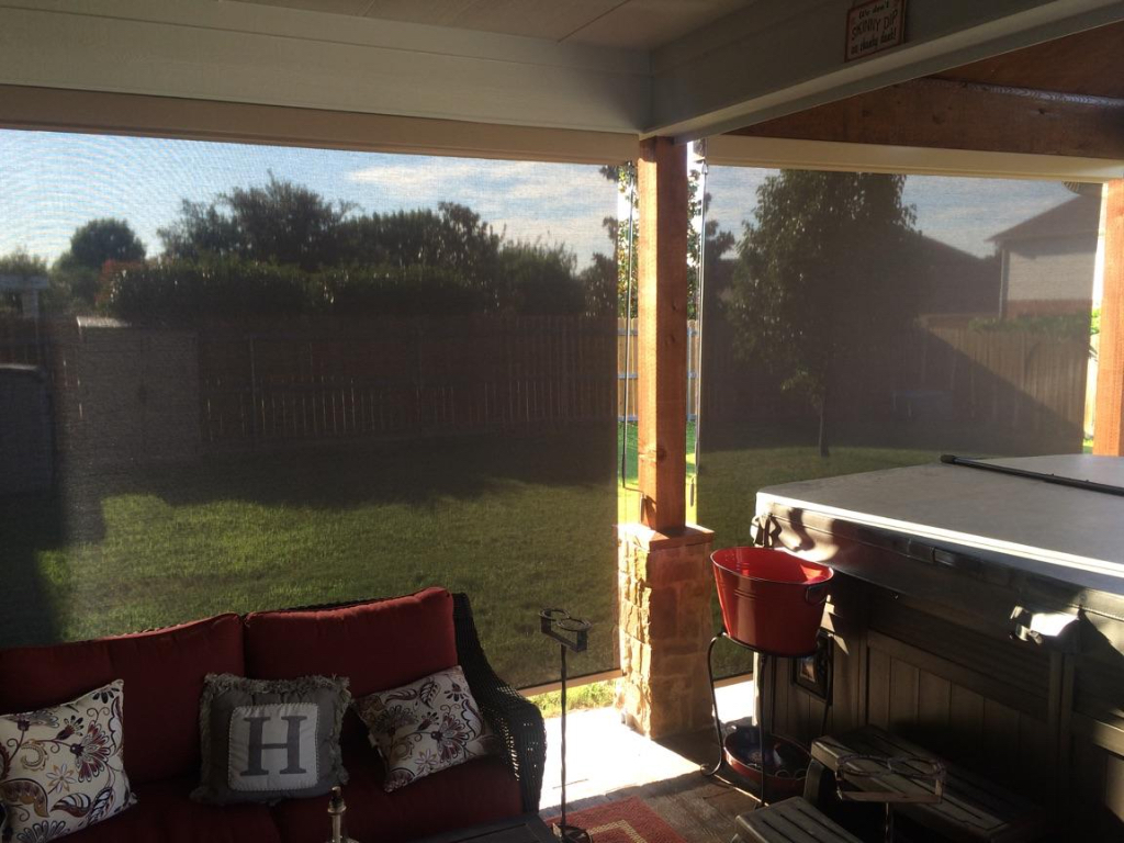 Outdoor Shades And Replace Roll Down Shades Screened Porch